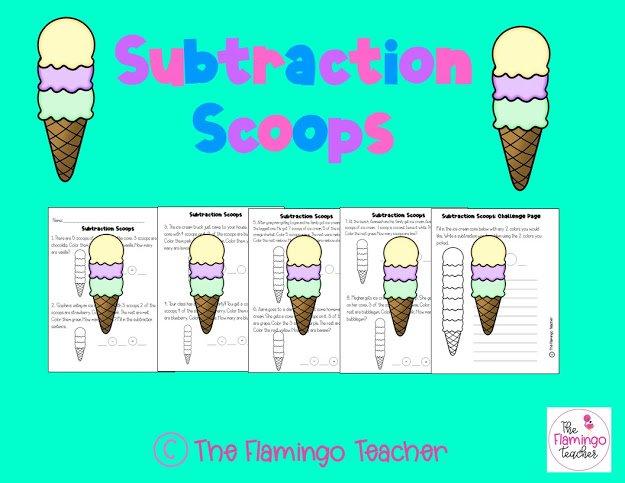 First Grade Math Subtraction Activity