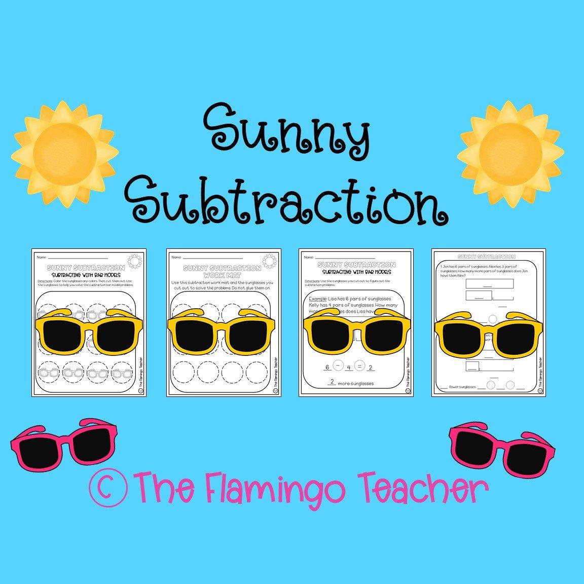 First Grade Go Math Subtraction Activity