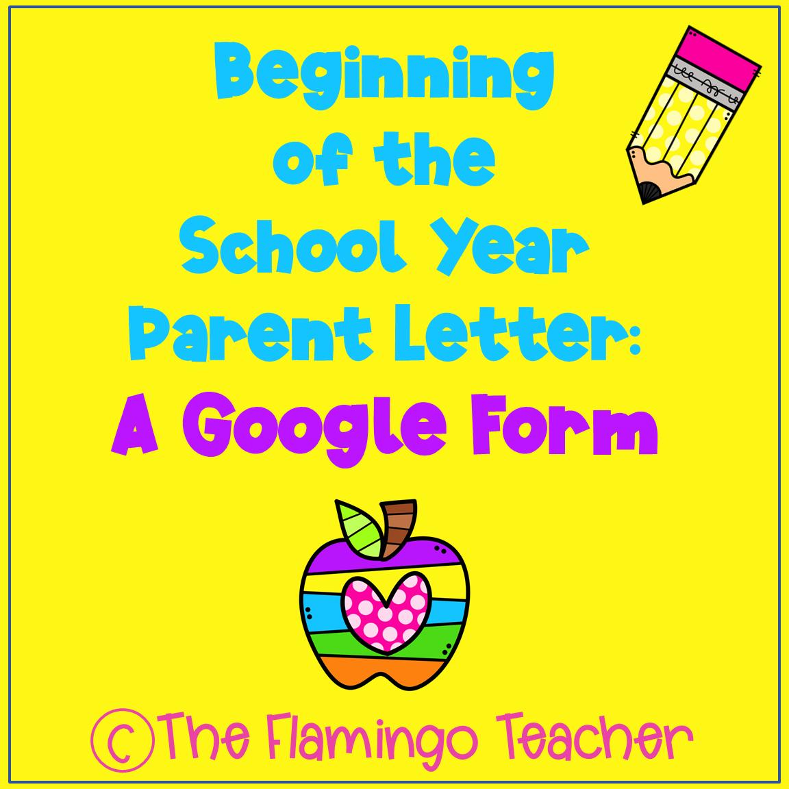 Parent Letter Beginning of School Year Distance Learning Google Slides