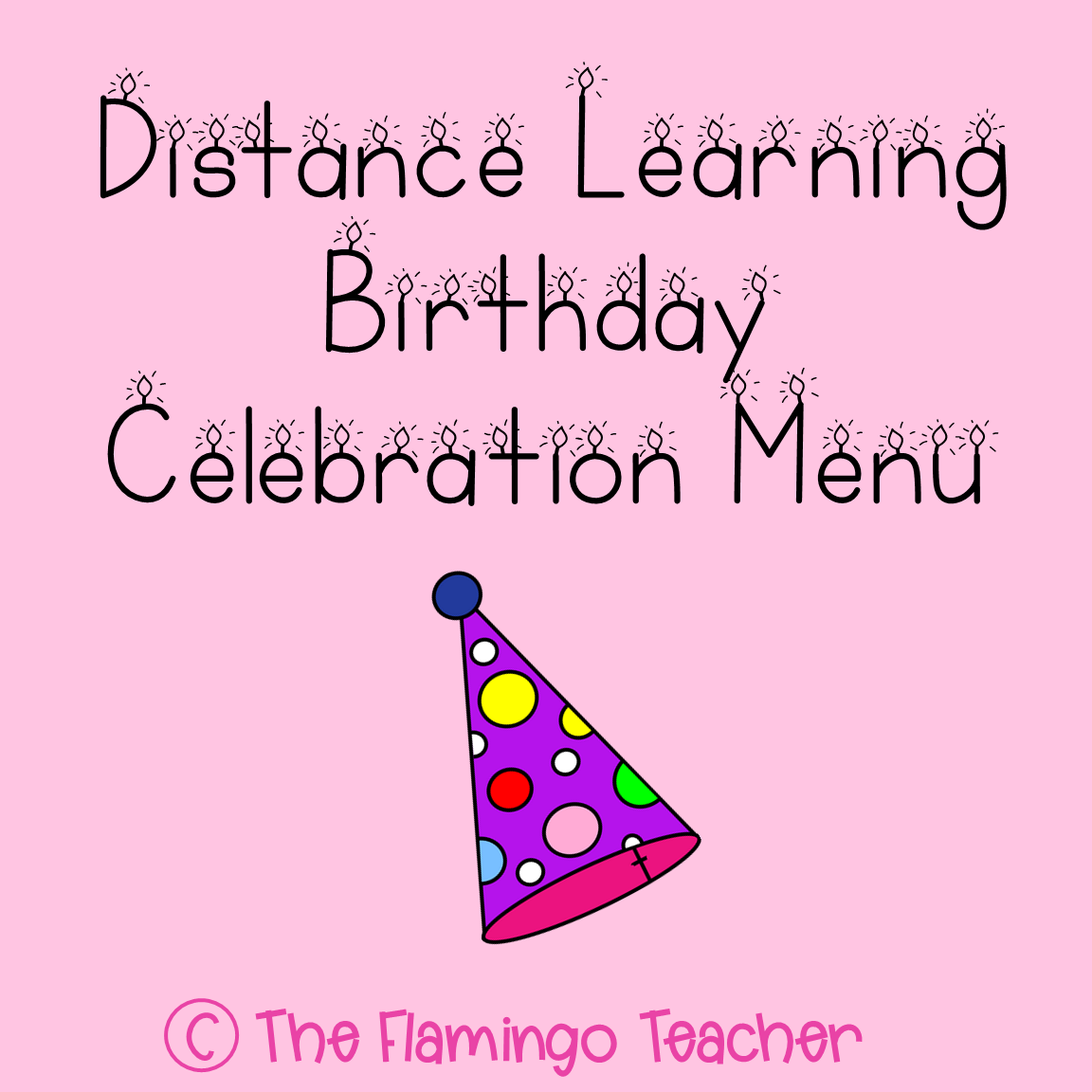Birthday Menu Distance Learning